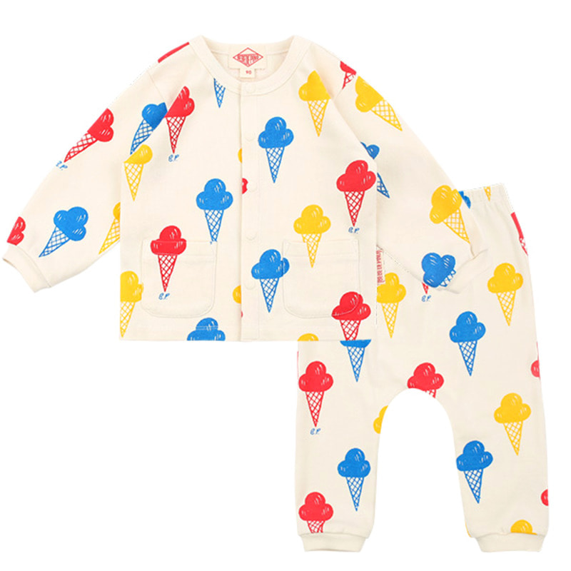 Multi ice cream baby homewear set
